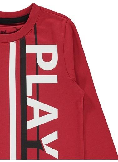 Cvl Erkek Çocuk Sweatshirt  Kırmızı